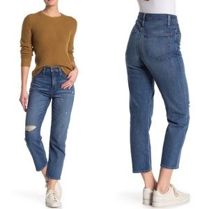 Madewell Cropped Classic Straight Leg Denim Jean